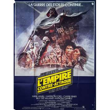 STAR WARS - L'EMPIRE CONTRE ATTAQUE Affiche de film - 120x160 cm. - 1980 - Harrison Ford, George Lucas