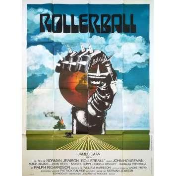 ROLLERBALL Affiche de film - 120x160 cm. - 1975 - James Caan, Norman Jewinson