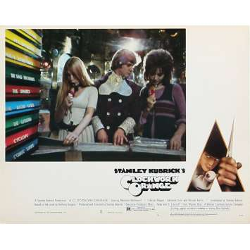 CLOCKWORK ORANGE Original Lobby Card N02 - 8x10 in. - 1971 - Stanley Kubrick, Malcom McDowell