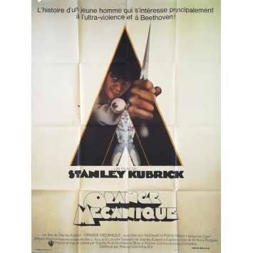 CLOCKWORK ORANGE Original Movie Poster 1st Release - 47x63 in. - 1971 - Stanley Kubrick, Malcom McDowell