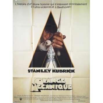 ORANGE MECANIQUE Affiche de film 1ère Sortie - 120x160 cm. - 1971 - Malcom McDowell, Stanley Kubrick