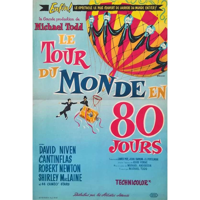 LE TOUR DU MONDE EN 80 JOURS Affiche de film - 40x60 cm. - 1956 - David Niven, Michael Anderson