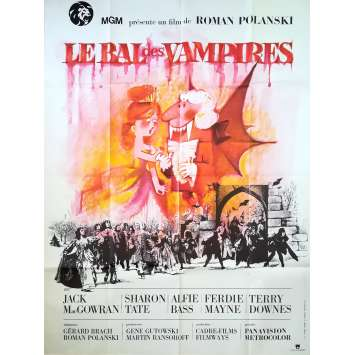 LE BAL DES VAMPIRES Affiche de film - 120x160 cm. - R1970 - Sharon Tate, Roman Polanski