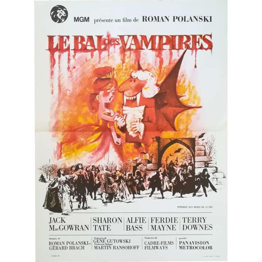 LE BAL DES VAMPIRES Affiche de film - 40x60 cm. - R1970 - Sharon Tate, Roman Polanski