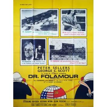 DOCTEUR FOLAMOUR Affiche de film - 120x160 cm. - 1964 - Peter Sellers, Stanley Kubrick