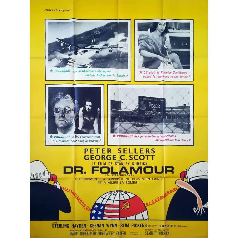 DR. STRANGELOVE Original Movie Poster - 47x63 in. - 1964 - Stanley Kubrick, Peter Sellers