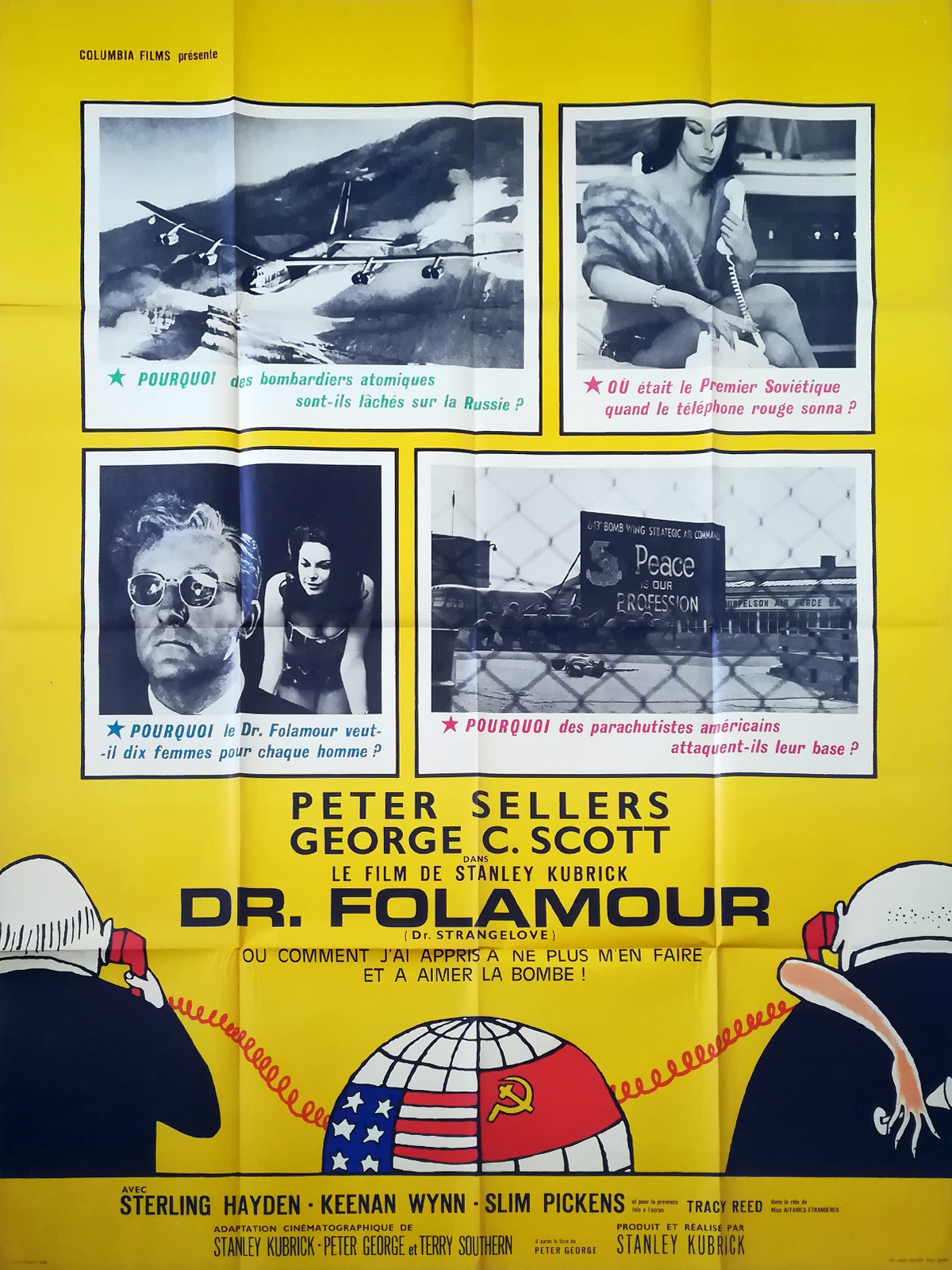 Dr Strangelove Stanley Kubrick Peter Sellers Movie Poster Print 1960s New