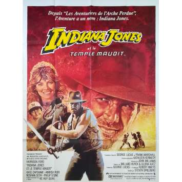 INDIANA JONES ET LE TEMPLE MAUDIT Affiche de film - 120x160 cm. - 1984 - Harrison Ford, Steven Spielberg