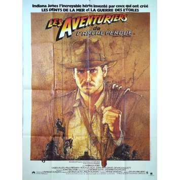 LES AVENTURIERS DE L'ARCHE PERDUE Affiche de film - 120x160 cm. - 1981 - Harrison Ford, Steven Spielberg