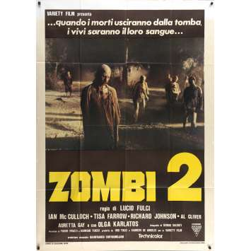 ZOMBIE Original Movie Poster - 39x55 in. - 1979 - Lucio Fulci, Tisa Farrow