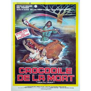 LE CROCODILE DE LA MORT Affiche de film - 60x80 cm. - 1976 - Neville Brand, Tobe Hooper