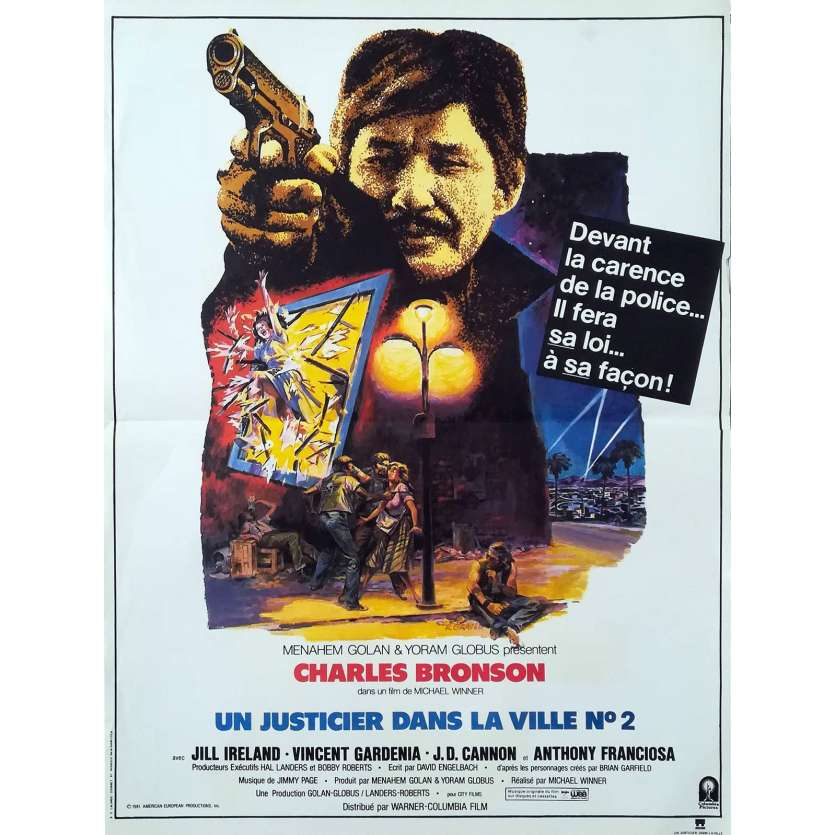 DEATH WISH 2 French Movie Poster 15x21 '82 Charles Bronso