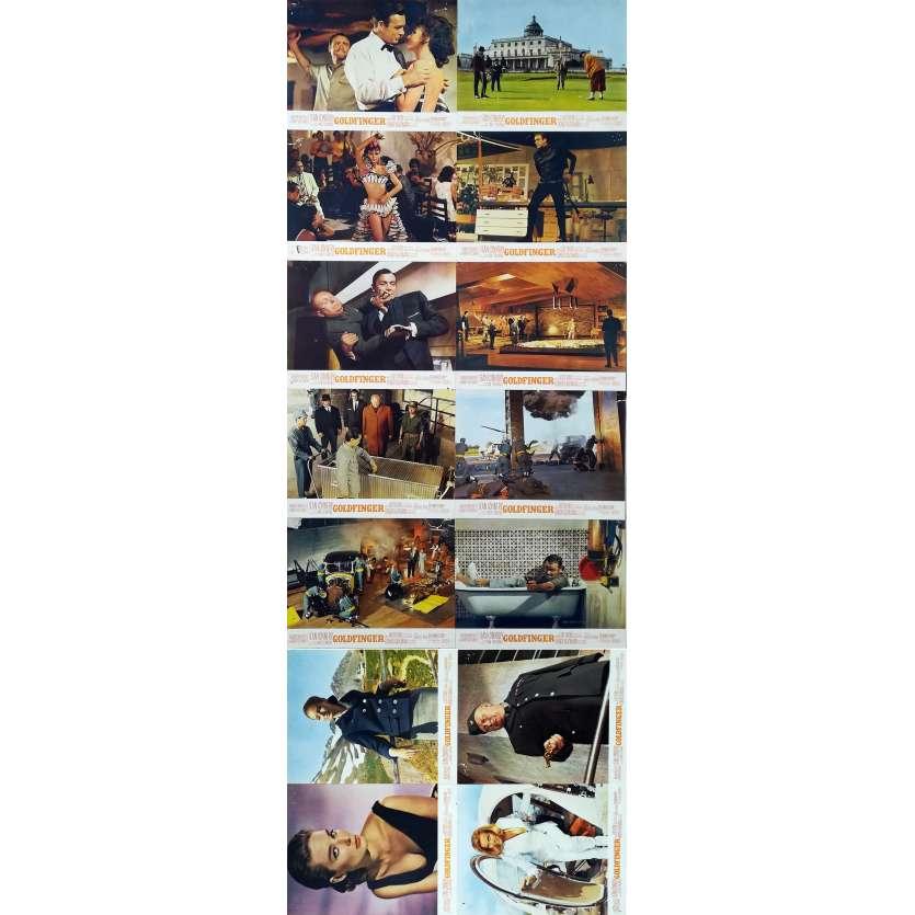 GOLDFINGER Photos de film x14 - 21x30 cm. - 1964 - Sean Connery, Guy Hamilton