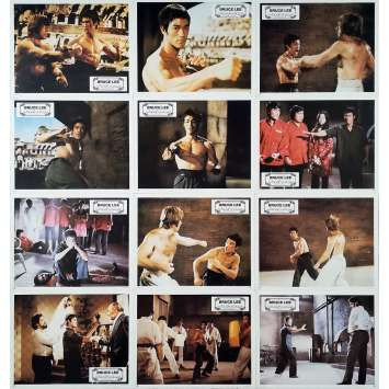 THE WAY OF THE DRAGON Original Lobby Cards x12 - 9x12 in. - 1974 - Bruce Lee, Bruce Lee, Chuck Norris