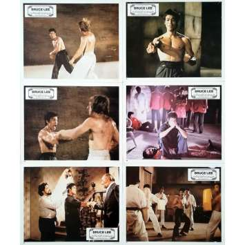 THE WAY OF THE DRAGON Original Lobby Cards x6 - 9x12 in. - 1974 - Bruce Lee, Bruce Lee, Chuck Norris