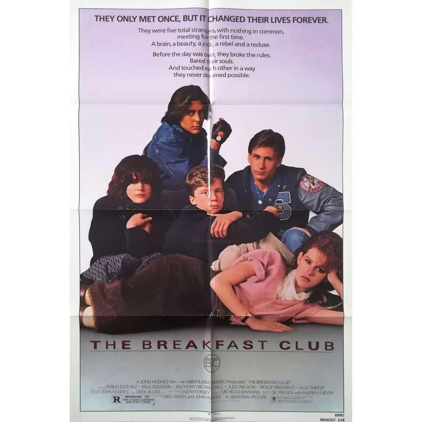 THE BREAKFAST CLUB Original Movie Poster - 27x40 in. - 1985 - John Hugues, Molly Ringwald