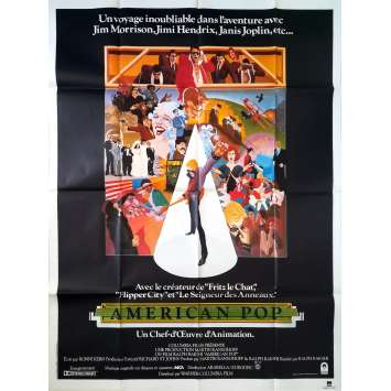AMERICAN POP Affiche de film - 120x160 cm. - 1981 - Mews Small, Ralph Bakshi