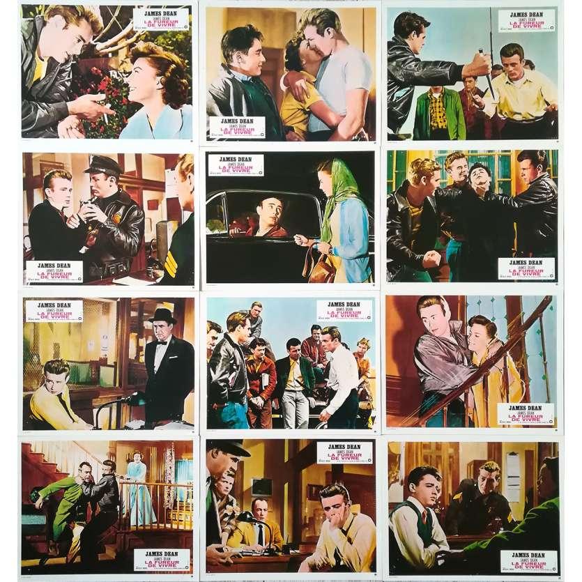 LA FUREUR DE VIVRE Photos de film x12 - 21x30 cm. - R1970 - James Dean, Nicholas Ray