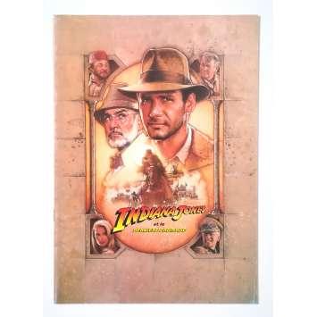 INDIANA JONES AND THE LAST CRUSADE Original Pressbook 24p - 9x12 in. - 1989 - Steven Spielberg, Harrison Ford