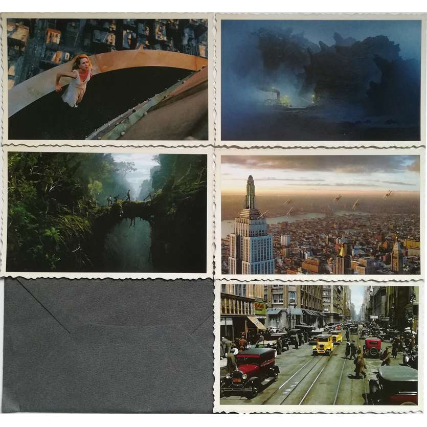 KING KONG Vintage Postcards lot x5 - 3,5x5,5 in. - 2005 - Peter Jackson, Fay Wray
