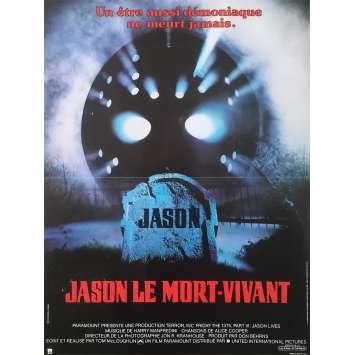 Friday THE 13th PART VI JASON LIVES Original Movie Poster - 15x21 in. - 1986 - Tom McLoughlin, Thom Mathews