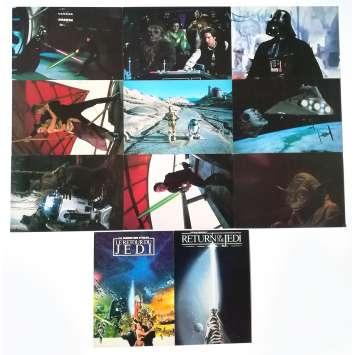 STAR WARS - LE RETOUR DU JEDI Cartes Postales x11 - 9x14 cm. - 1983 - Harrison Ford, Richard Marquand