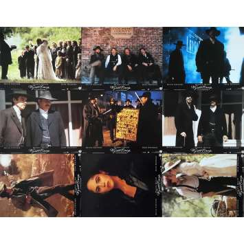 WYATT EARP Original Lobby Cards x9 - 9x12 in. - 1994 - Lawrence Kasdan, Kevin Costner