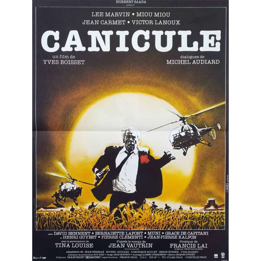 CANICULE French Movie Poster 15x21 '84 Lee Marvin, Yves Boisset