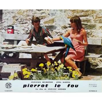 PIERROT LE FOU Photo de film 25x30 cm - N02 1965 - Jean-Paul Belmondo, Jean-Luc Godard