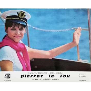 PIERROT LE FOU Lobby Card 9,5x12 in. - N03 1965 - Jean-Luc Godard, Jean-Paul Belmondo