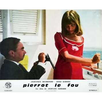 PIERROT LE FOU Lobby Card 9,5x12 in. - N04 1965 - Jean-Luc Godard, Jean-Paul Belmondo