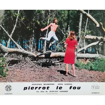 PIERROT LE FOU Lobby Card 9,5x12 in. - N06 1965 - Jean-Luc Godard, Jean-Paul Belmondo
