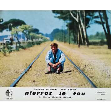 PIERROT LE FOU Photo de film 25x30 cm - N10 1965 - Jean-Paul Belmondo, Jean-Luc Godard