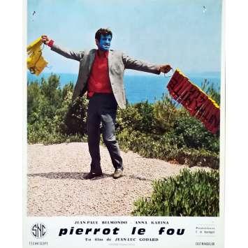 PIERROT LE FOU Lobby Card 9,5x12 in. - N11 1965 - Jean-Luc Godard, Jean-Paul Belmondo