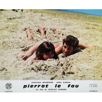 PIERROT LE FOU Original Lobby Card N16 - 10x12 in. - 1965 - Jean-Luc Godard, Jean-Paul Belmondo
