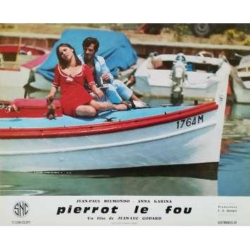 PIERROT LE FOU Original Lobby Card N15 - 10x12 in. - 1965 - Jean-Luc Godard, Jean-Paul Belmondo