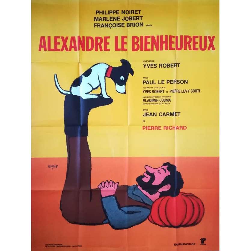 ALEXANDRE LE BIENHEUREUX Affiche de film - 120x160 cm. - 1968 - Philippe Noiret, Yves Robert