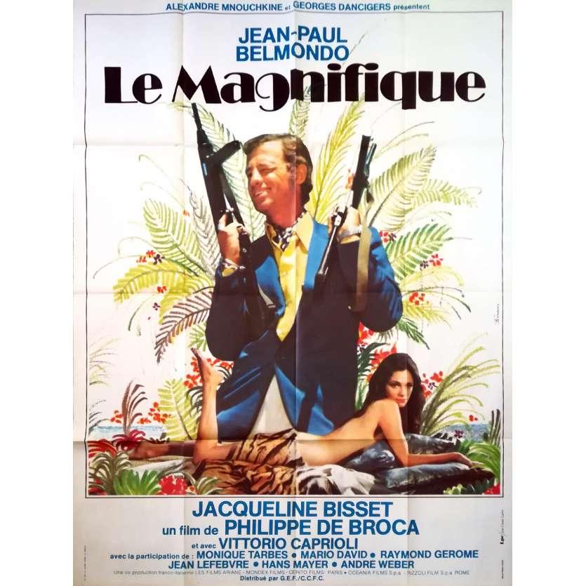 LE MAGNIFIQUE Affiche de film - 120x160 cm. - 1973 - Jean-Paul Belmondo, Philippe de Broca