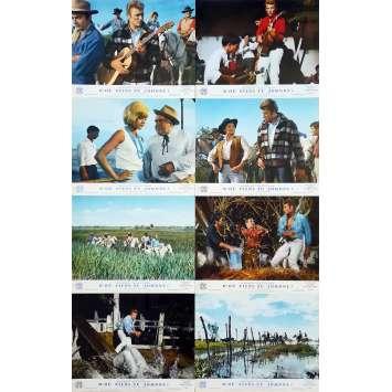 WHERE ARE YOU FROM, JOHNNY? Original Lobby Cards x8 - 10x12 in. - 1963 - Noël Howard, Johnny Hallyday, Sylvie Vartan