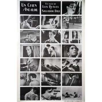 UN CHIEN ANDALOU Affiche de film entoilée - 80x120 cm. - 1968 - Salvador Dali, Luis Buñuel