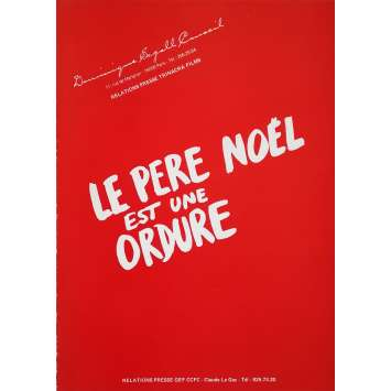 LE PERE NOEL EST UNE ORDURE Dossier de presse 20p - 21x30 cm. - 1982 - Thierry Lhermitte, Jean-Marie Poiré