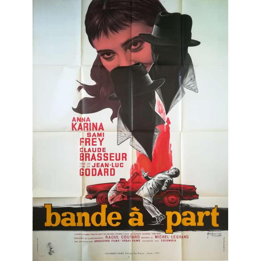 BANDE A PART Affiche de film - 120x160 cm. - 1964 - Anna Karina, Jean-Luc Godard