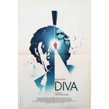DIVA Original Movie Poster - 15x21 in. - 1981 - Jean-Jacques Beineix, Jean-Hugues Anglade