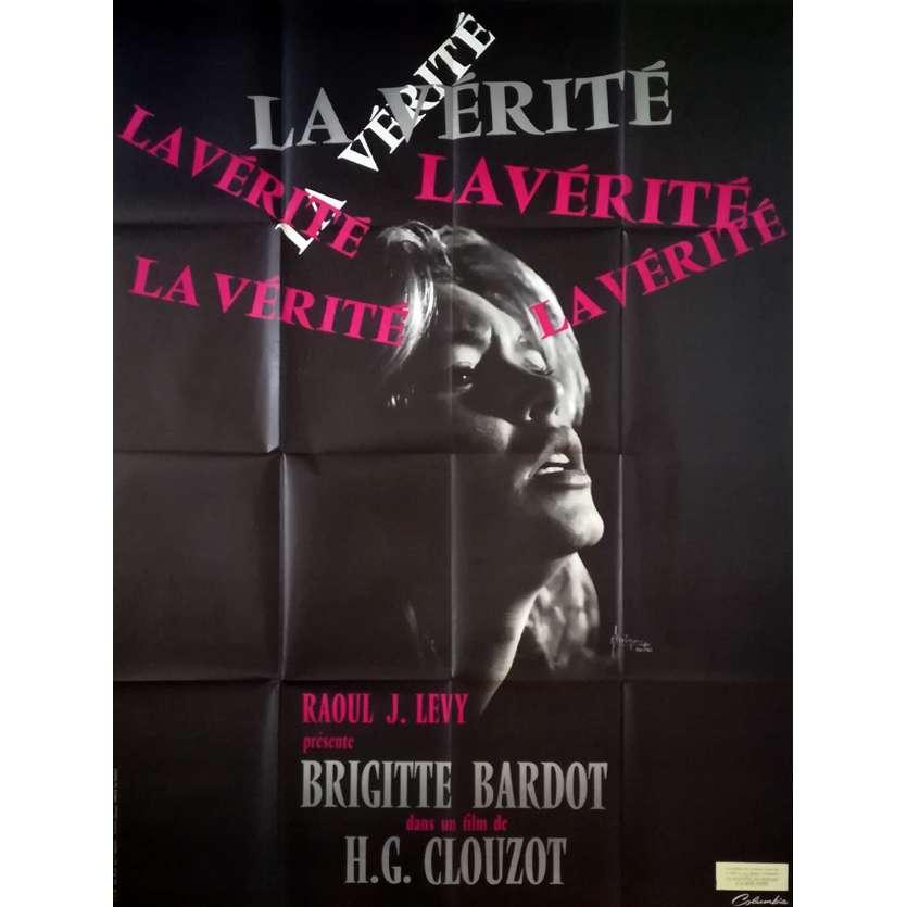 LA VERITE Affiche de film - 120x160 cm. - R1960 - Brigitte Bardot, Henri-Georges Clouzot