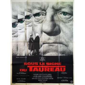 SOUS LE SIGNE DU TAUREAU Affiche de film - 120x160 cm. - 1969 - Jean Gabin, Gilles Grangier