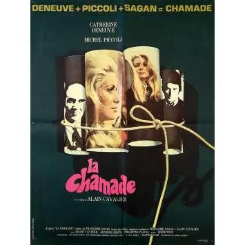 LA CHAMADE Original Movie Poster - 23x32 in. - 1968 - Françoise Sagan, Catherine Deneuve, Piccoli