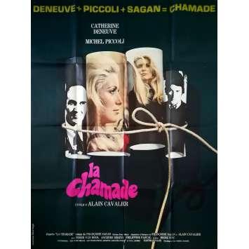 LA CHAMADE Original Movie Poster - 47x63 in. - 1968 - Françoise Sagan, Catherine Deneuve, Piccoli