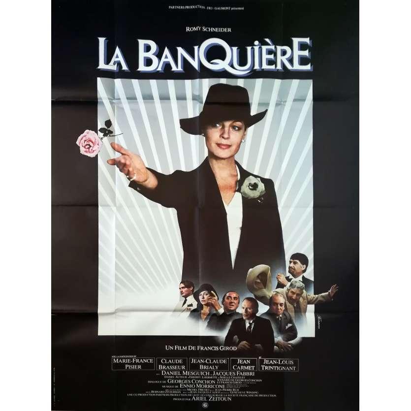 LA BANQUIERE Affiche de film - 120x160 cm. - 1980 - Romy Schneider, Francis Girod