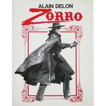 ZORRO Synopsis 4p - 24x30 cm. - 1975 - Alain Delon, Duccio Tessari