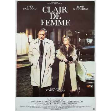 CLAIR DE FEMME Affiche de film - 40x60 cm. - 1979 - Romy Schneider, Costa Gavras